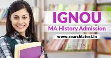 IGNOU MA History Admission
