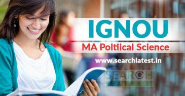 IGNOU MA Political Science Admission