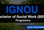 IGNOU Bachelor of Social Work Programme