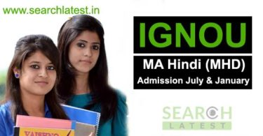 MA Hindi from IGNOU Admission