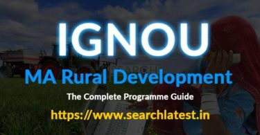 IGNOU MARD Admission - MA in Rural Development from IGNOU