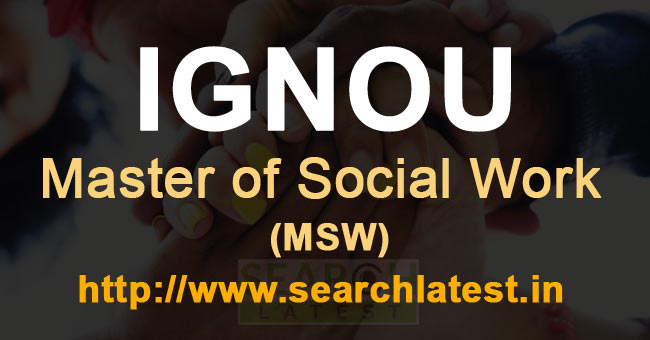 Master of Social Work IGNOU Admission