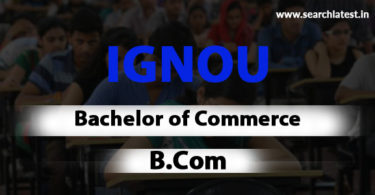 IGNOU B.Com Admission