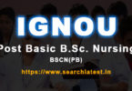 IGNOU Post Basic B.Sc. Nursing Admission