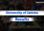 University of Jammu exam result