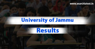 University of Jammu exam result