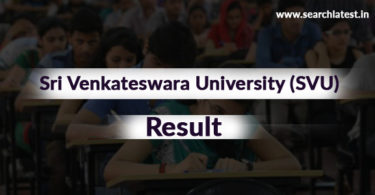 Sri Venkateswara University Results