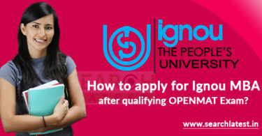 How to apply for Ignou MBA after qualifying OPENMAT Exam?