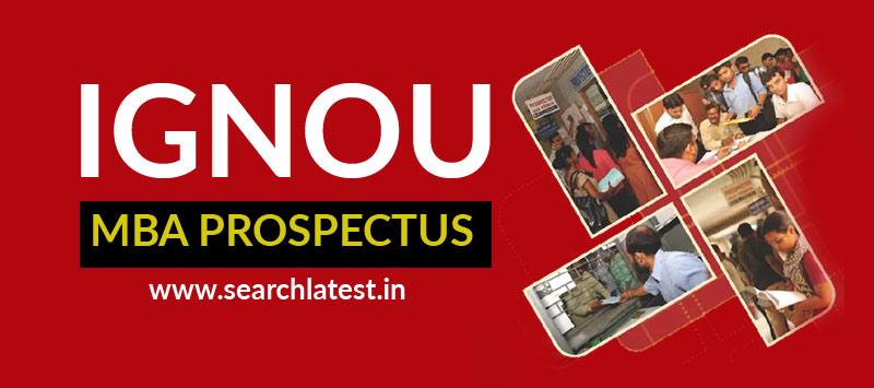 IGNOU MBA Prospectus