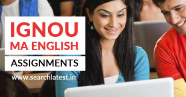 IGNOU MA English (MEG) Assignments