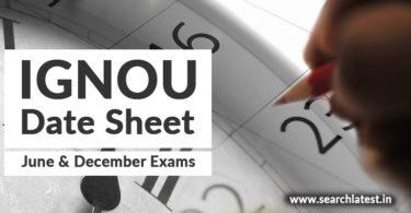 Download IGNOU Date Sheet online