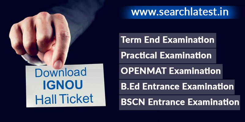 IGNOU Hall Ticket Download June & December Examination