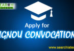 IGNOU Convocation online registration