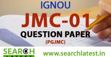 IGNOU JMC 1 Question Paper