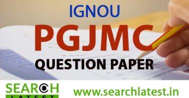 IGNOU PGJMC Question Paper