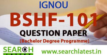 BSHF 101 Question Paper