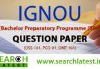IGNOU BPP Question Paper