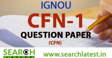 IGNOU CFN 1 Question Paper