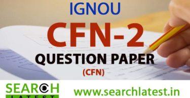 IGNOU CFN 2 Question Paper