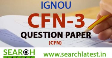 IGNOU CFN 3 Question Paper