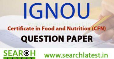 IGNOU CFN Question Paper