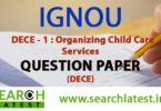IGNOU DECE 1 Question Paper