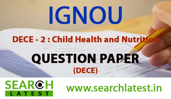 IGNOU DECE 2 Question Paper
