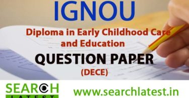 IGNOU DECE Question Paper