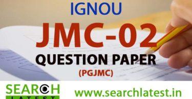 IGNOU JMC 2 Question Paper
