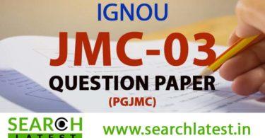 IGNOU JMC 3 Question Paper
