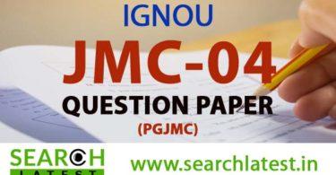 IGNOU JMC 4 Question paper