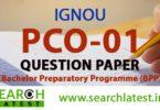 IGNOU PCO 01 Question Paper