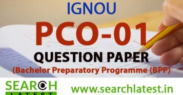 IGNOU PCO 01 Question Paper